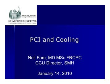 PCI and Cooling - Emergency Medicine