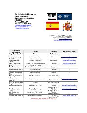 Embajada de México en: - México Diplomático