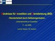 Bündnisse für Investition und Dienstleistung (BID) - Dudweiler