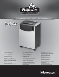 C-480Cx C-480Cx - Fellowes