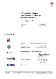 International Centre for Geohazards - NGI