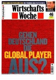 Wirtschaftswoche - 6. November 2003 - Klein & Coll.