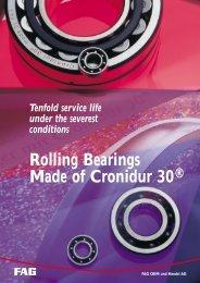 Rolling Bearings Made of Cronidur 30