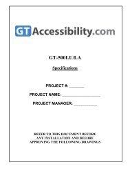 GT-500LU/LA - Global Tardif Groupe manufacturier d'ascenseurs