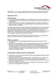 CCNL 2010 e nuovo sistema salariale 2012: panoramica dei punti ...