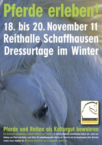 Reithalle Schaffhausen Dressurtage im Winter - Reitverein ...