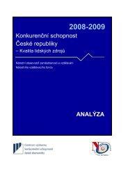 Analytická část kapitoly Kvalita lidských zdrojů - Národní vzdělávací ...