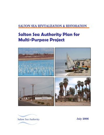 Restoration Plan - Salton Sea Authority - State of California