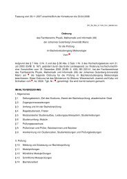 Bachelor of Science: Meteorologie - im Fachbereich Physik ...