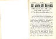 1929 Ringvaade nr.: 6 Loomaarstiteaduskonna esimene kümnend ...