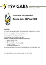 Tennis-Spiel-(S)Pass 2010 - TSV Gars