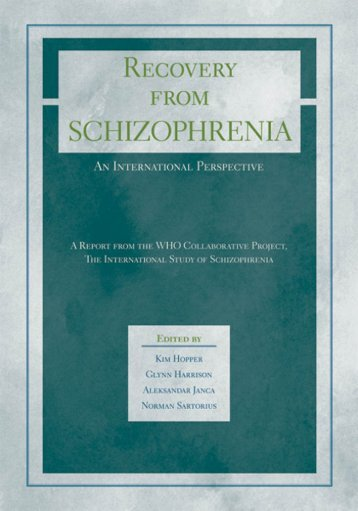 Recovery From Schizophrenia : An International Perspective : a ...