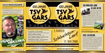 Flyer Schluchtenlauf - TSV Gars