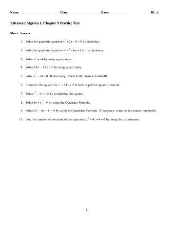 Lovely Advanced Algebra Practice Photos - Printable Math ...
