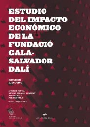segundo estudio de impacto económico - Fundació Gala - Salvador ...