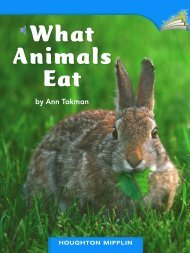 Lesson 24:What Animals Eat