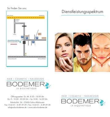 Ein Auszug aus unserem Dienstleistungsspektrum ... - Salon Bodemer
