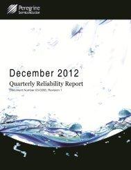 December 2012 - Peregrine Semiconductor
