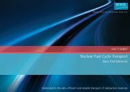 WNTI Fact Sheet - Nuclear Fuel Cycle Transport Back End Materials