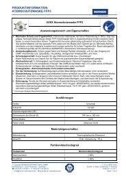 Benutzerinformation Atemschutzmaske - BERNER International GmbH