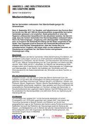 Berner Gemeinden verbessern Ihre Standortbedingungen für ...