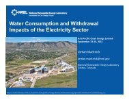 Water Consumption and Withdrawal Impacts of the Electricity Sector ...