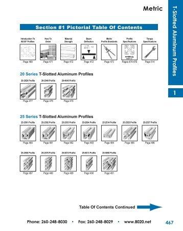 T-Slotted Aluminum Profiles - 80/20® Inc.