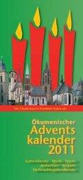 Advents kalender 2011 - St. Katharinen Gemeinde Frankfurt