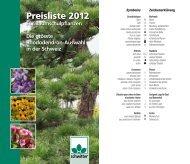 Preisliste 2012 Preis