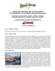 « LES SAVEURS DE L'Italie » 12 JOURS ... - Voyages à rabais