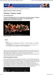 WDR 2 Die Kritiker - Ballett in Dortmund - WDR 2 Der Sender
