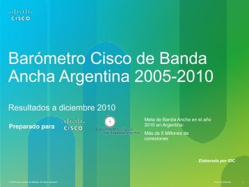 Barómetro Cisco de Banda Ancha - Marketwire