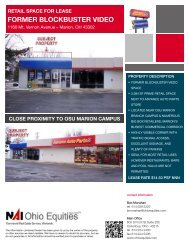retail space for lease former blockbuster video - Ohio Equities, LLC