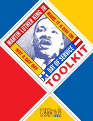 Project Planning Toolkit - Martin Luther King Day of Service