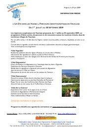 1er juillet au 30 septembre 2009 - Avignon et Provence
