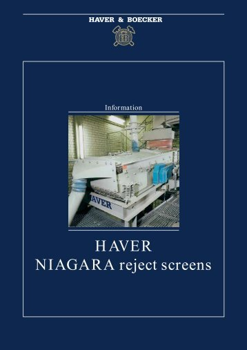 HAVER NIAGARA reject screens - SALAM Enterprises