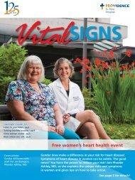 Free women's heart health event - Providence Washington