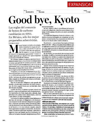 Good bye Kyoto - Instituto Global para la Sostenibilidad