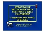 APPROCCIOALLE METODOLOGIE DELLA DIDATTICA E ... - Unisi.it