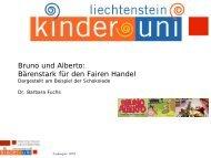 Bruno und Alberto: Bärenstark für den Fairen Handel - Kinder-Uni