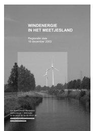 WINDENERGIE IN HET MEETJESLAND - Meetjesland.be