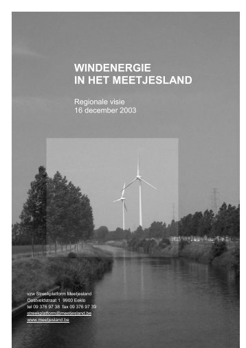 WINDENERGIE IN HET MEETJESLAND - Meetjesland.be