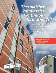Thermafiber RainBarrier Continuous Insulation (ci) - Pharos Project
