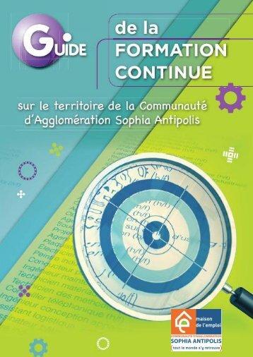 Guide de la Formation Continue - La Communauté d'Agglomération ...