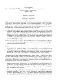 Margherita Benzi Università Vita-Salute San Raffaele ... - Filosofia