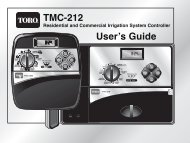Toro TMC-212 Controller Owner's Manual - Irrigation Direct