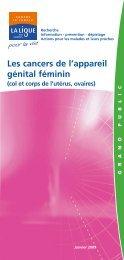 Les cancers de l'appareil génital féminin - Ligue contre le cancer