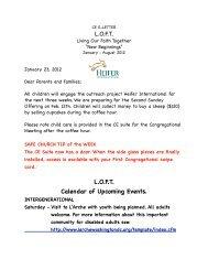 CE E-Letter Jan. 23, 2012 - First Congregational UCC Washington DC