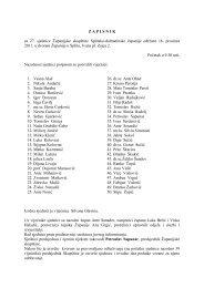 1. Prihvaćanje zapisnika sa 27. sjednice Županijske skupštine
