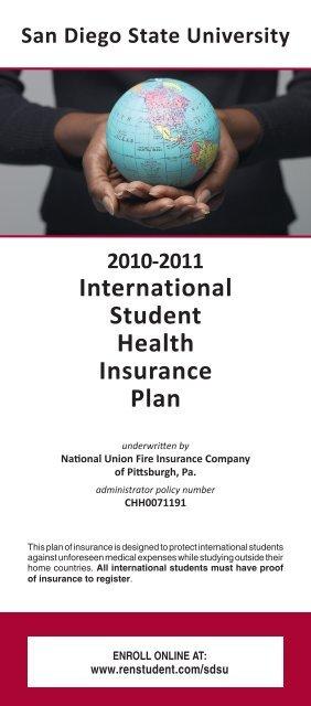 Sdsu Health Insurance >> International Student Health Insurance Plan Ascension